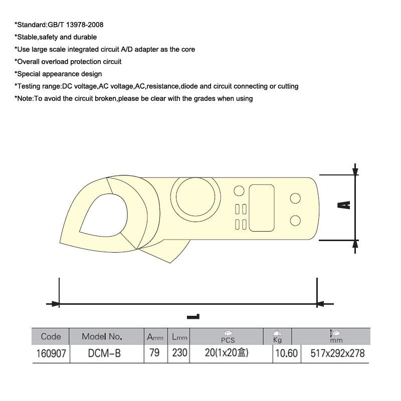 Jetech Auto Ranging Acdc Voltmeter Auto Range Digital Handheld