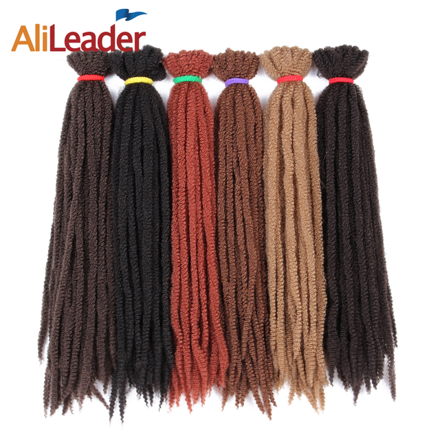 Alileader 7 Packs Full Head Crochet Marley Braid Hair Extensions 18