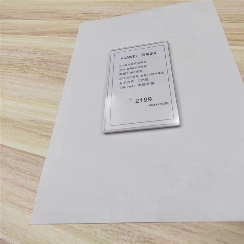 10pcs/lot Huawei 3.5 Experience Desktop Signing White Card Price Tag New Mobile Phone Table Card Label