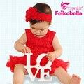 2016 verano infantil recién nacido Formal mameluco del bebé princesa bonita vestido del mameluco moderna ropa que sube 0 - 12 M