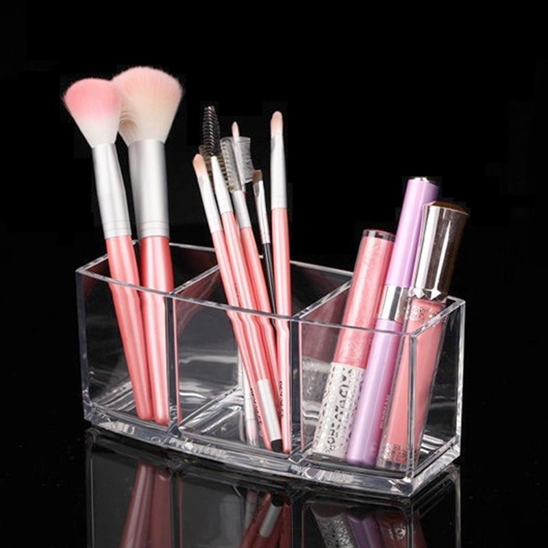 Acrylic Makeup Organizer Cosmetic Holder Makeup Tools Transparent Storage Box Brush And Accessory Organizer Box