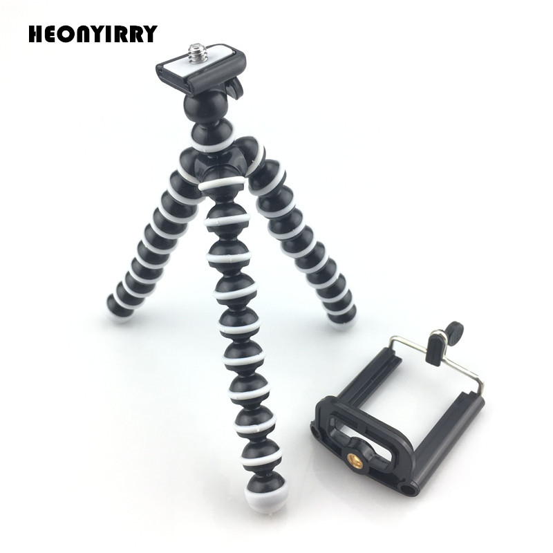 все цены на Flexible Octopus Sponge Tripod for Xiaomi Mobile Phone Smartphone Tripod for Gopro DSLR Mount action camera accessories kits онлайн