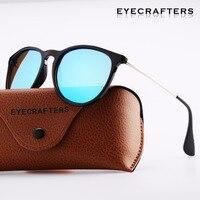 Eyecrafters Brand Designer Polarized Sunglasses Womens Retro Vintage Cat Eye Sunglasses Female Fashion Mirrored Eyewear