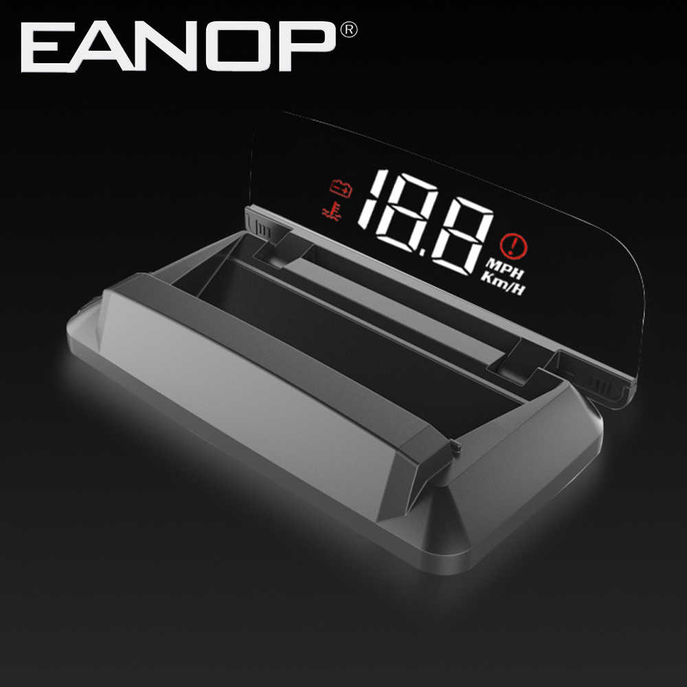 EANOP iSmart - S จอแสดงผลรถยนต์ hud OBD2 Windsheild ความเร็วโปรเจคเตอร์ Speedometer แรงดันไฟฟ้า Monitor KHM KPM แปลง