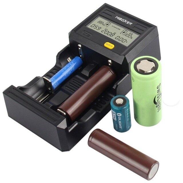 Miboxer C2 6000 2 слота 3A/слот ЖК-дисплей Экран Smart Батарея Зарядное устройство w для Li-ion/INR/ICR/Ni-MH/Ni-Cd аккумуляторные батареи