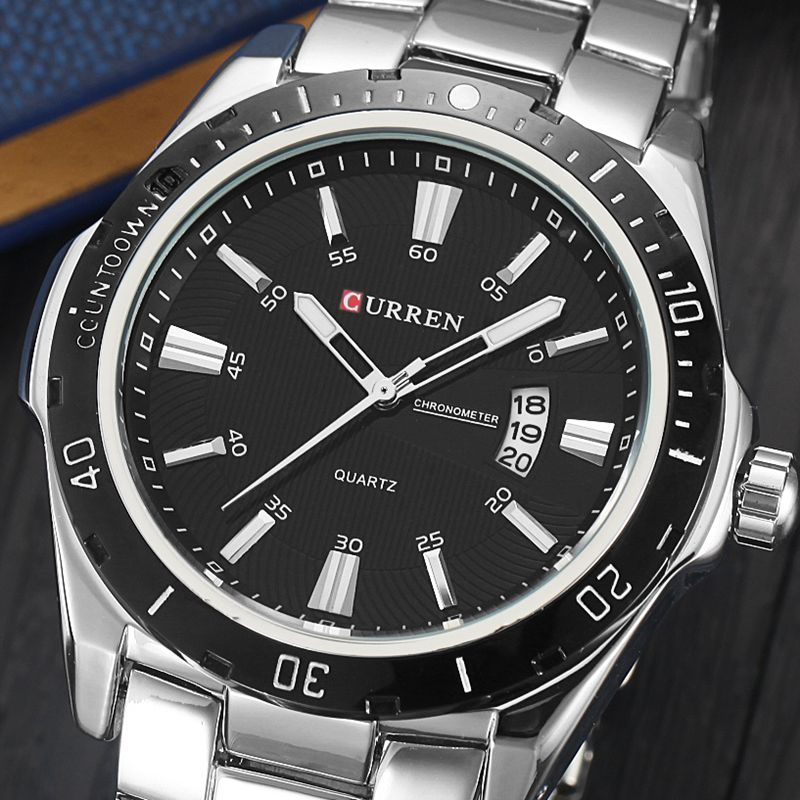 Curren 8110 Luxury Brand Men Watch Full Steel Business Quartz-Watch Day Date Calendar Wristwatch Fashion Relogio Masculino oem curren 8110 t waches c576