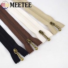Meetee 20pcs 3# 12-25cm Nylon Zipper Close End Zip DIY Jacket Coat Bag Tent Sewing Clothing Garment Accessories BD316