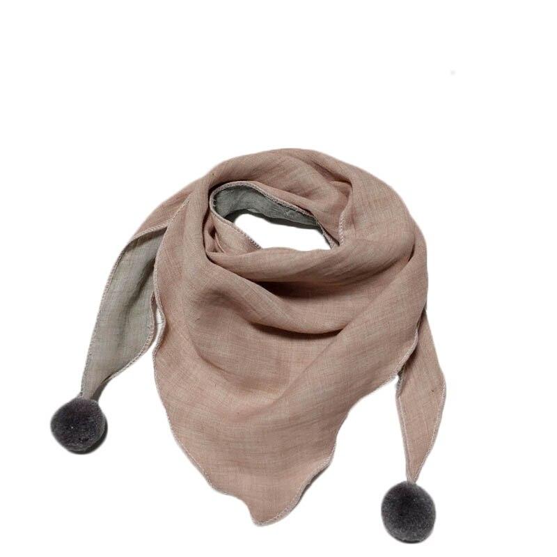 Весенние клетчатые треугольные шарфы в горошек для маленьких девочек; осенне-зимняя шаль для мальчиков и девочек; Детские хлопковые воротники; теплый детский шейный платок - Цвет: beige