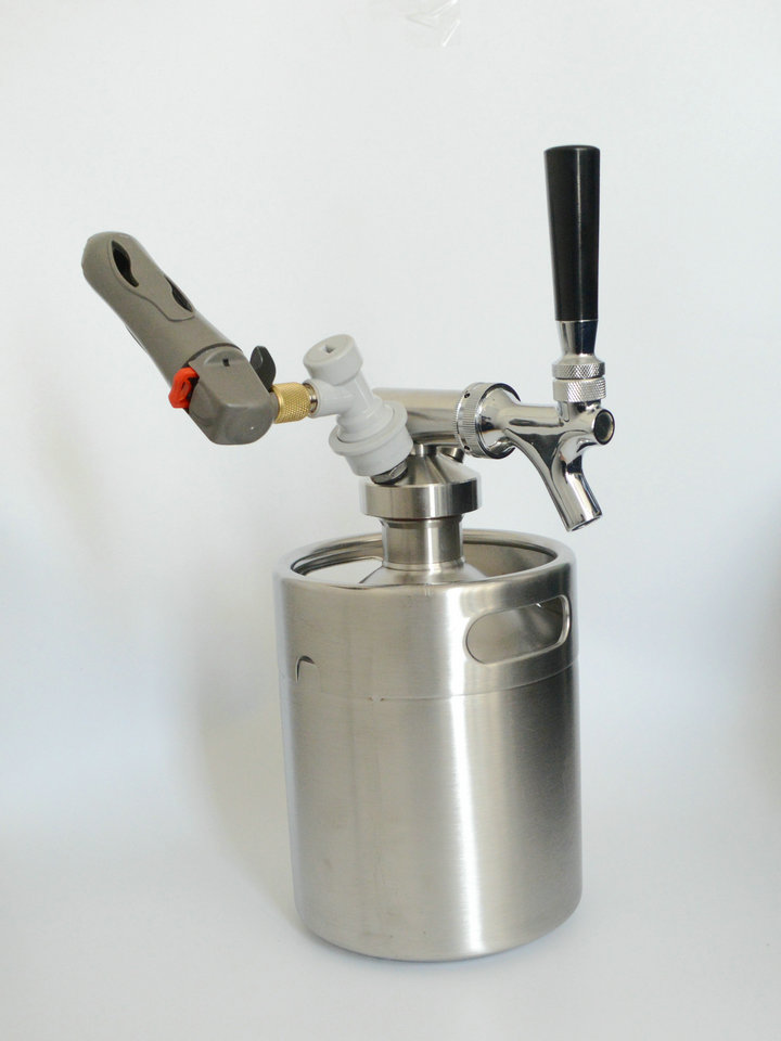 64oz beer keg coupler/growler spears/Beer Spear With Tap Faucet /For ...
