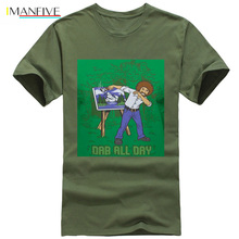 Bob Ross Official Artist Dab All Day T-Shirt Summer Short Sleeves Fashion T Shirt Free Shipping funny 100% Cotton Classic tops bob ross official everybody needs a friend t shirt summer short sleeves fashion t shirt free shipping funny 100% cotton