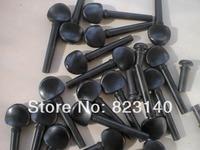 5 Sets Violin pegs(20pcs) with 5 pcs Violin end pins, Ebony Violin parts