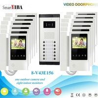 SmartYIBA Wired 4.3TFT LCD Color Touch Screen HD Camera Video Door Bell Door Phone Intercom System Kits For 3 12 Apartments