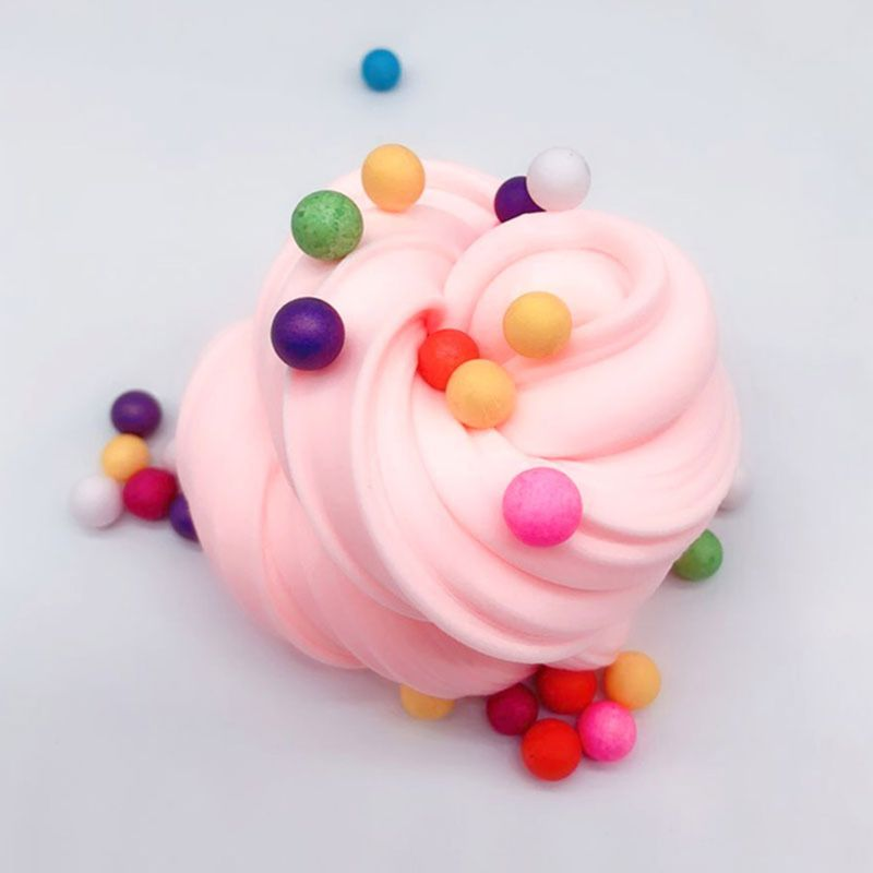 Drop ShiP New Two Colors Ice Cream Puff Slime Clay Slime Mud Foam Slime Beads Slime Gift