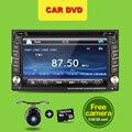 Авторадио Автомобильный DVD PC 2 Дин Стерео Аудио головное устройство HD GPS Bluetooth USB/SD AUX Видео Мультимедиа Плеер камеры Для обнаружения VW