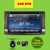 Windows HD Touch Screen In Dash Double 2DIN GPS Car Stereo DVD GPS Player Bluetooth TV