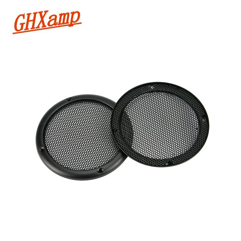 GHXAMP 2 PCS 3.5 polegada Grade Do Altofalante Do Carro Malha Net Cover CHEIO de Metal de alta-grade do gabinete de Metal orador grades