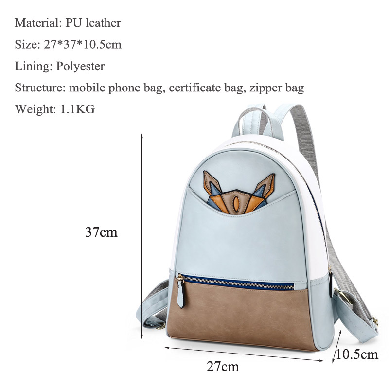Girls Backpack Japanese and Korean version of high school students schoolbag fashion trend ladies backpack college travel bag in Backpacks from Luggage Bags