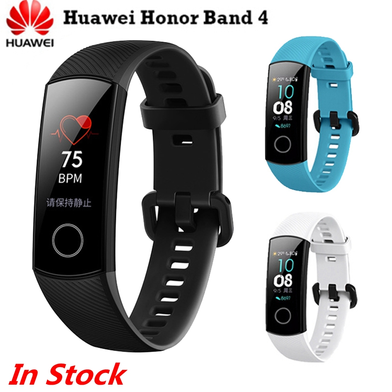 Original Huawei Honor Band 4 Fitness Bracelet 0.95″ Amoled Touch Screen 5ATM Swim Posture Detect Heart Rate Sleep Snap In Stock
