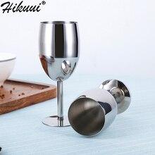 2 шт 240 мл вина Стекло Нержавеющая сталь полировки серебряной чашей бар бокал шампанского Barware вечеринок
