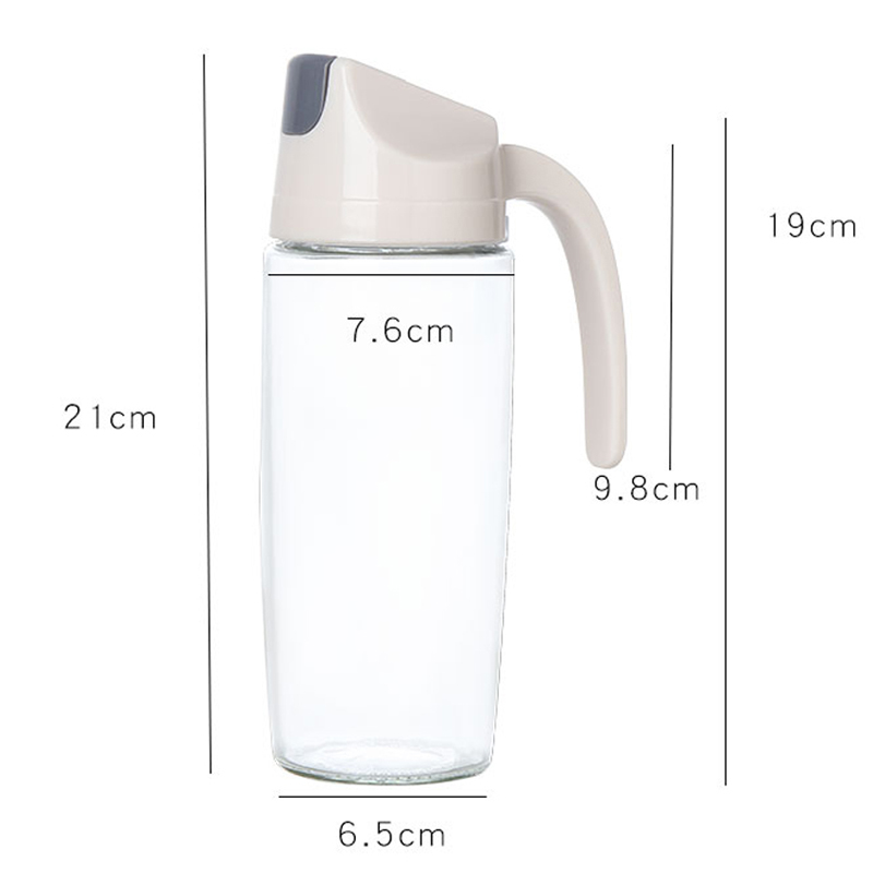 050 600ml Kitchen Oil bottle glass leakproof oil pot household kitchen utensils automatic opening and closing vinegar bottle in Bottles Jars Boxes from Home Garden