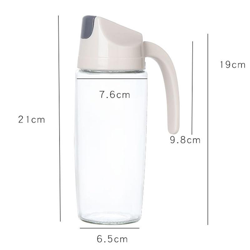 050 600ml Kitchen Oil bottle glass leakproof oil pot household kitchen utensils automatic opening and closing vinegar bottle in Bottles Jars Boxes from Home Garden