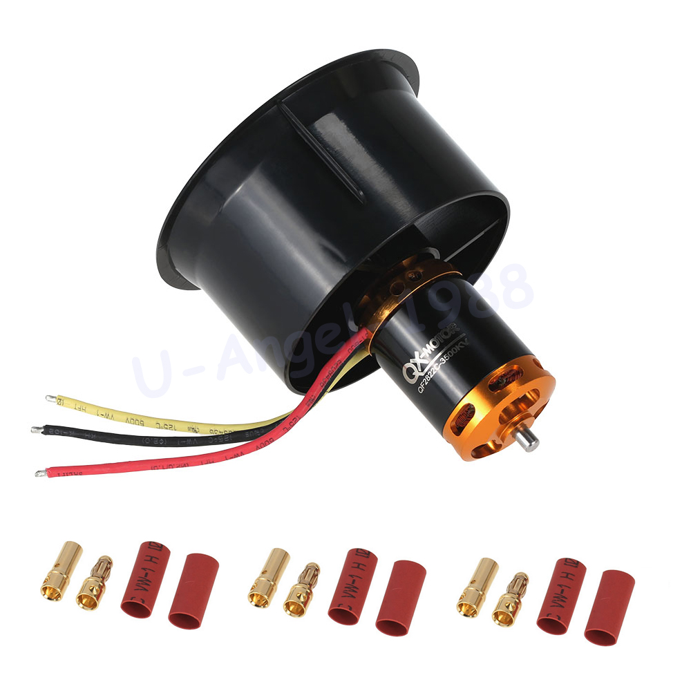 Register shipping 1 set 64mm EDF Set 2822 3500KV Motor with 12 Blades Ducted Fan for RC Airplane free shipping 450 mx 3500 kv brushless motor tl450mx 3500