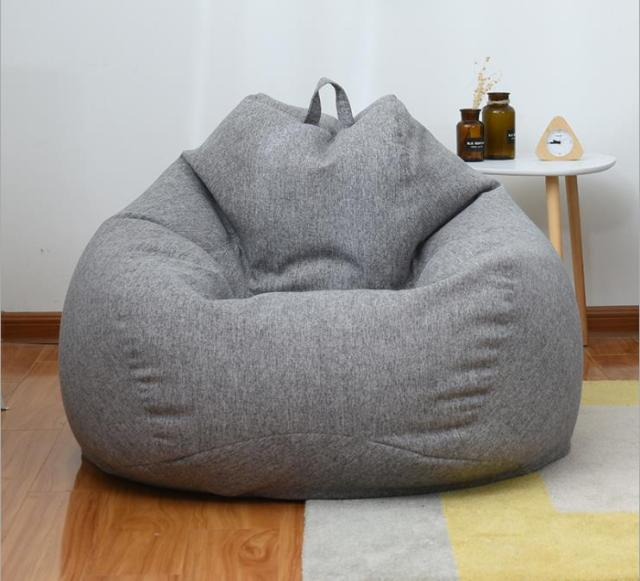 Home Lazy Bean Bag Sofa Living Room And Bedroom Soft Beanbag Chair Leisure  Sofa Bed Outdoor Couch Tatami Single With Filler|Bean Bag Sofas| -  AliExpress