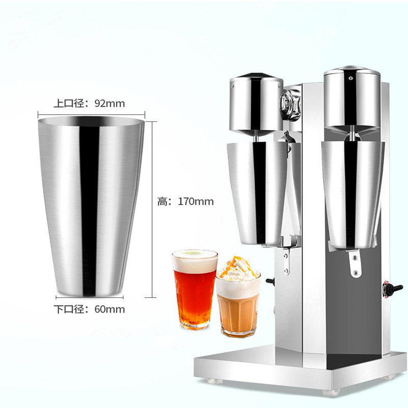 Stainless steel commercial double head milk shake machine electric milkshake mix blender sigle head snow storm milk shake blender milkshake machine commercial milk tea mixer foam zf