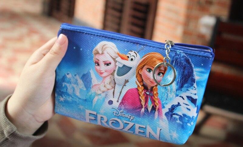 Princess Anna Elsa Frozen Cartoon handmade zipper fabric coin change purse card holder