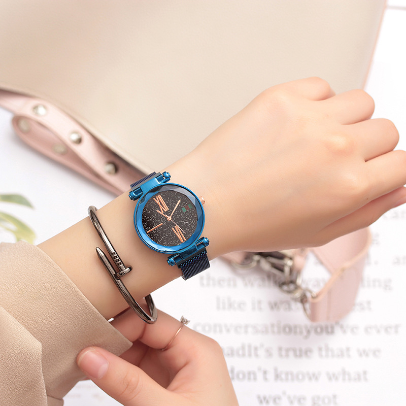 Starry Sky Luxury Famous Children Watches Magnet Strap Bracelet Quartz Watch Dress Wrist Watch Kids Hours Clock Gift For Girls