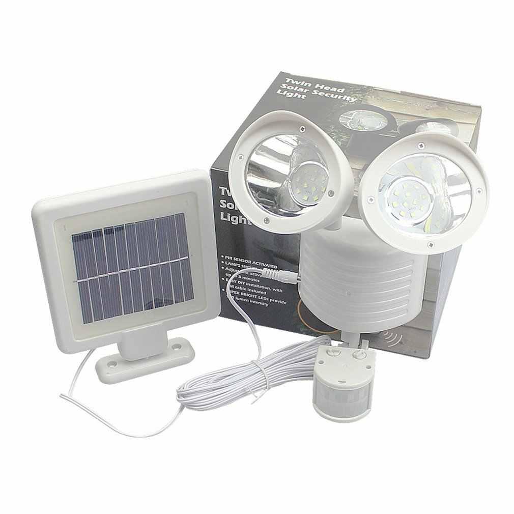 22 светодиодный двойной детектор безопасности споты на солнечной энергии прожектор датчика движения открытый настенный светильник для сада пейзаж оптовая продажа