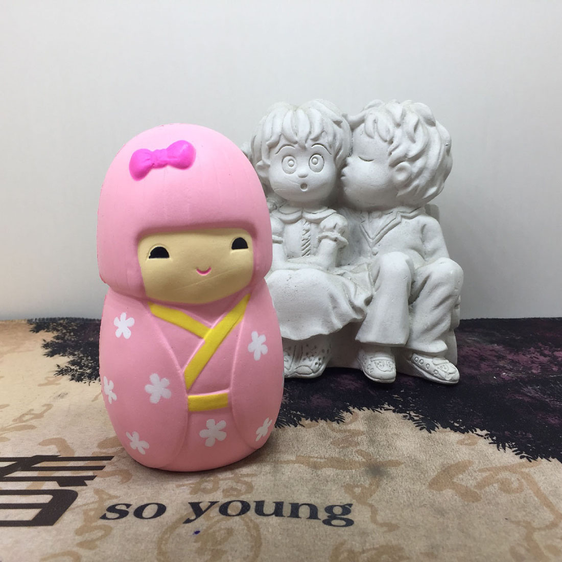 11.5 CM Cute Cartoon Japan Girl Stress Relief Toys Squishy Slow Rising Soft Squeeze Phone Straps Kid Fun Party Toys Gift