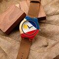 BOBO PÁSSARO K03 Novos Chegada Natureza Bambu Mens Relógios Top marca de Impressão UV Bandeira Filipinas Caso Mostrador do Relógio de Couro Macio banda