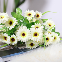 Bouquet silk anemone artificial daisy flowers bouquet decorative flower wedding home room table decoration