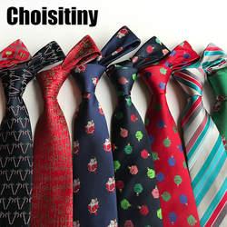 2018 новый дизайн новогодний галстук 8 см Стиль Для мужчин; модные галстуки Галстук высокое качество дизайнер характер галстук свадебный