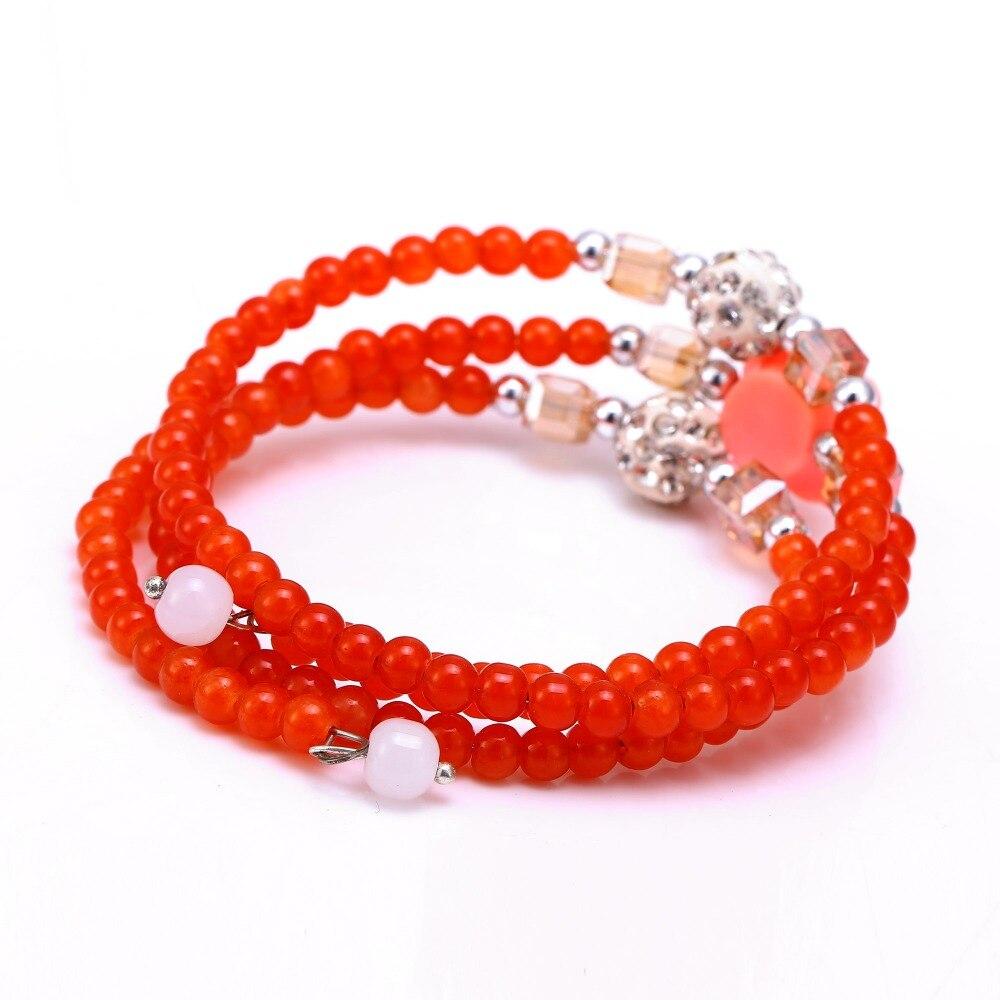 Couleur Avec Du Rouge ⊱main de couleur de sucrerie cristal bracelets avec rouge