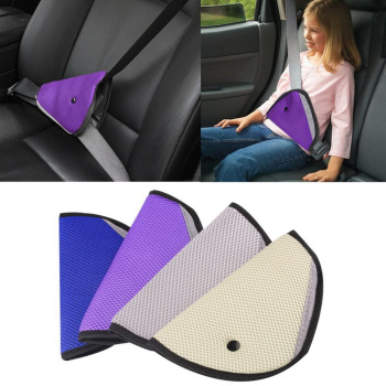 Triangle Baby Kids Car Road Safety Seat Belt Adjuster Device Auto Belt Cover Child Neck Protection Positioner Safe Fit Seat Belt image
