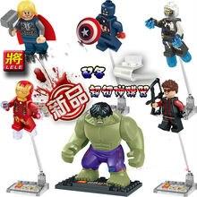 Wholesale 480pcs super heroes Marvel Avenger 2 Iron Man/Thor/Hulk 6Pcs Minifigure Model Kit  Building Block Toys  orignial box