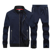 2017 New Autumn Winter Men Sporting Suit Hoodies Jacket Pant Sweatsuit Two Piece Set Tracksuit Sportswear