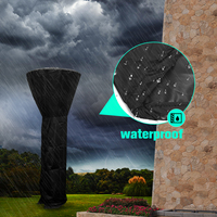 220cm Outdoor Dust proof Patio Heater Cover Protector Waterproof Polyester Home Yard Heater Protection Shade Nets Black