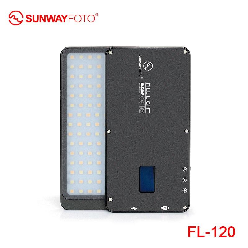 SUNWAYFOTO FL-96 FL-120 светодиодный видео свет фото освещение на олимпу Pentax DV камера hotshoe Dimmable светодиодный для DSLR youtube