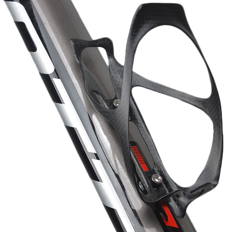 1pcs Carbon Matte Glossy MTB Road Mountain Bike Bicycle Water Bottle Cages Cycling Bottle Holder Ultralight Handlebar Mount bicycle bike cycling water bottle holder base mount handlebar tube clip black page 3 page 5