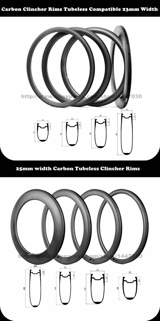 tubeless clincher rims