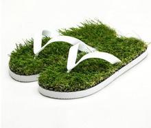 2018 New men Imitation Grass Flip Flops For man Summer Beach Flat Shoe Out Slipper Slippers