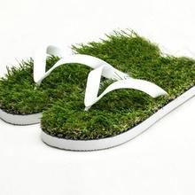 2018 New men Imitation Grass Flip Flops For man Summer Beach Flat Shoe Out  Slipper Slippers 9408c3b47535