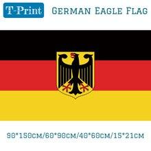 Free shipping 90*150cm/60*90cm/40*60cm/15*21cm Germany German Eagle Flag 3*5 Feet Deutschland Hawk