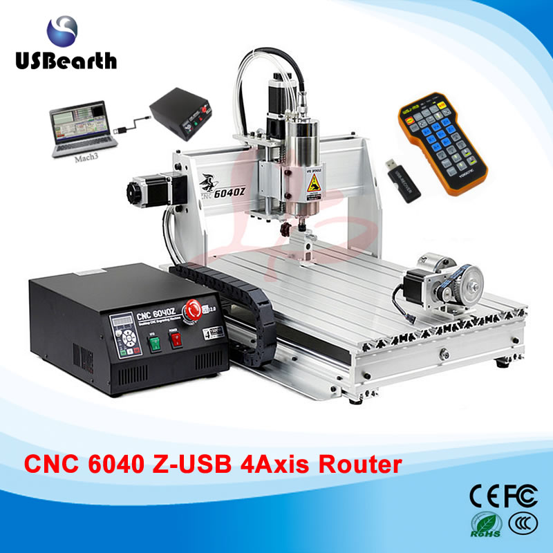 CNC engraving machine 6040Z-USB 4axis cnc router mach3 remote control with free handwheel eur free tax cnc 6040z frame of engraving and milling machine for diy cnc router