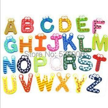 Wholesale Cartoon A Z Letters Alphabet Wooden Fridge