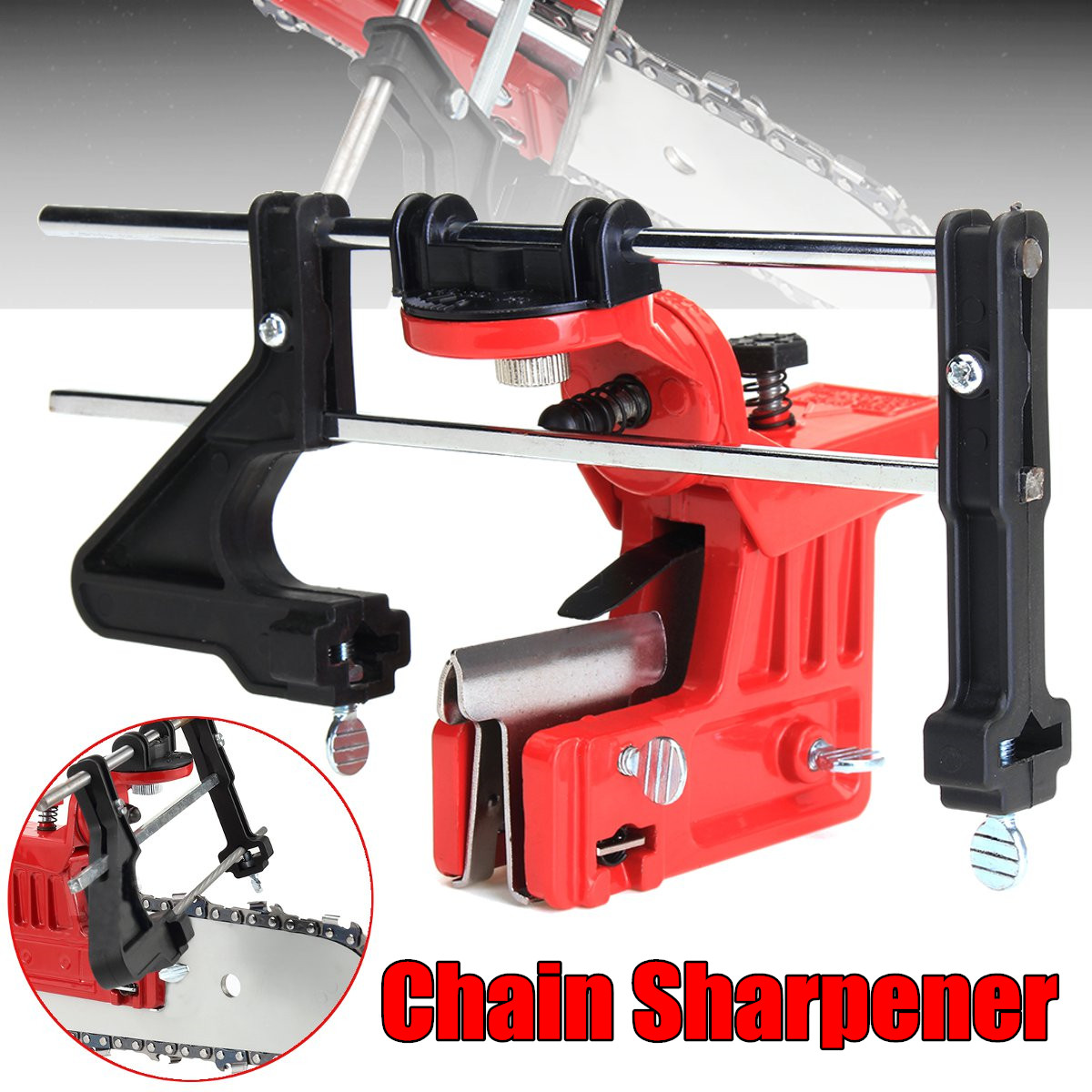 Universal Pro Lawn Mower Chainsaw Chain File & Guide Sharpener Grinding Guide for Garden Chain Saw Sharpener Garden Tools цена