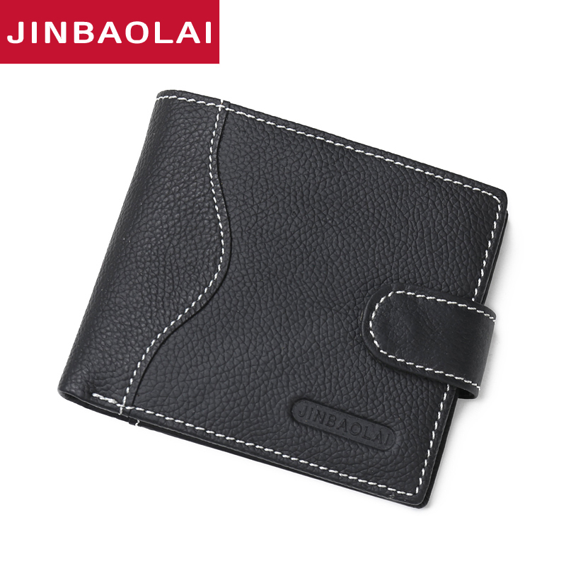 New Billfold Genuine Leather Men Wallets Man Famous Brand Small Short Wallets With Coin Pocket Male Purses Card Holder Walet